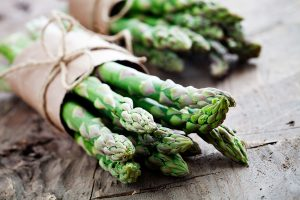 healthy snack of asparagus
